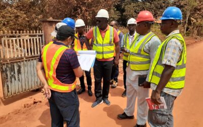 Anambra Newmap State Project Management Unit (SPMU) today embarked on  it's routine site inspection to evaluate the progress made and provide guidance on issues on site, led by the State Project coordinator, Michael Ivenso the  team visited the gully erosion sites at  Abidi-Umuoji' Ojoto and Nnewichi communities. See picture excerpts below