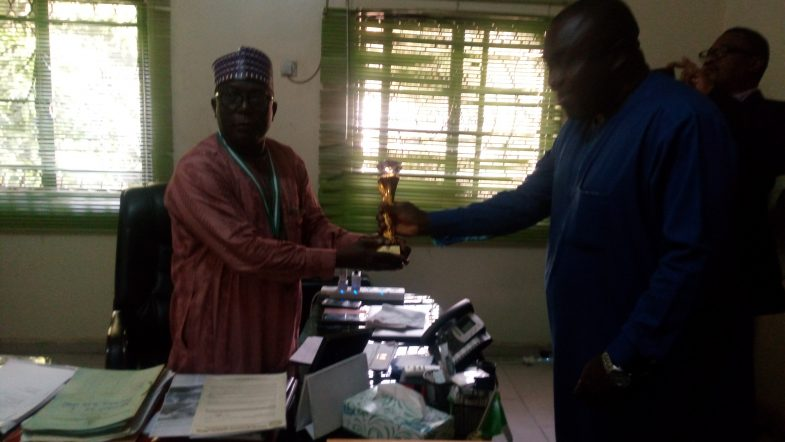 The National Project Coordinator NEWMAP Receives an Award