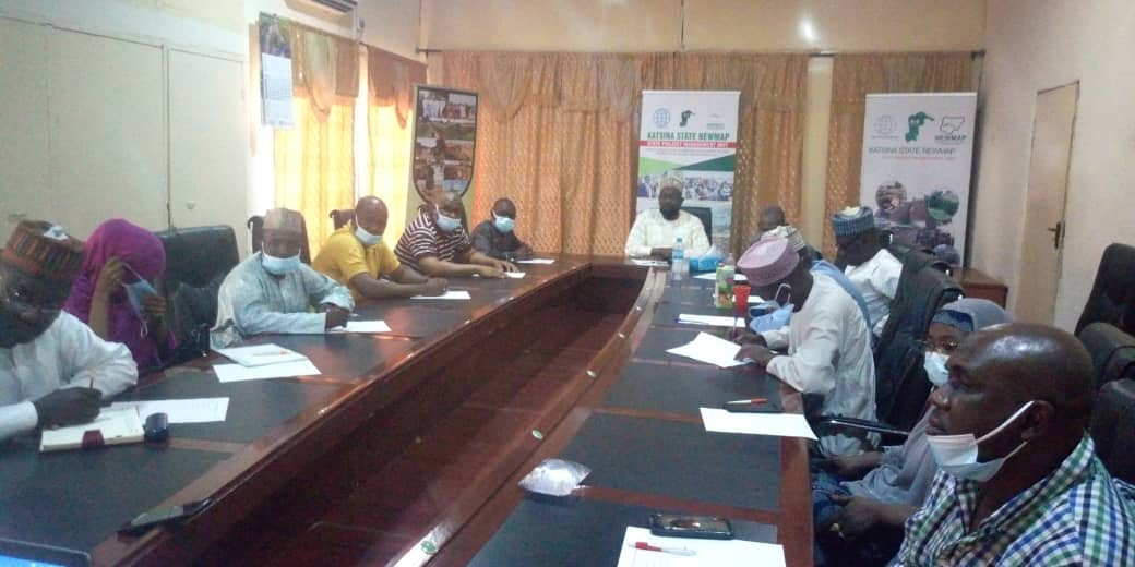 Kano state Newmap led by  its Project Coordinator  Musa Shuaibu on a peer learning experience to Katsina to observe the ongoing RAP implementation exercise taking place in Katsina.